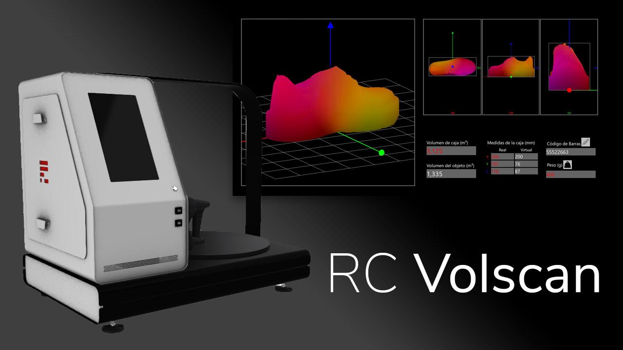 RC Volscan. Escáner de volumetría 3D para objetos regulares e irregulares.